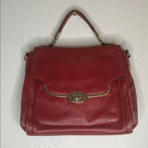 Coach Madison Sadie flap pebbled leather